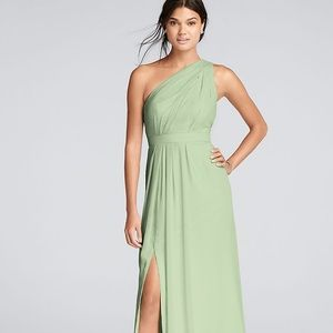 David's Bridal Long One Shoulder Formal Dress